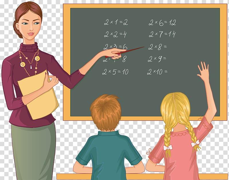 Teacher teaching kids illustration, Student teacher Student.