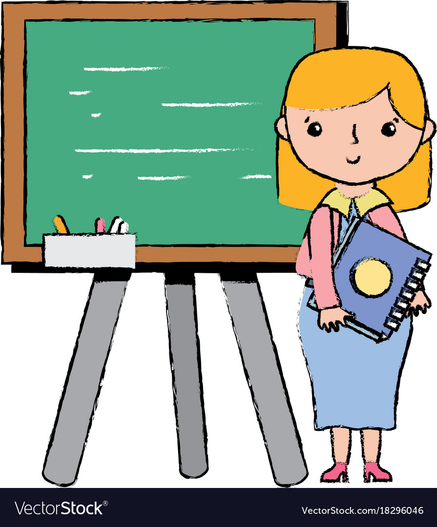 Teacher teaching class lesson in the backcoard.