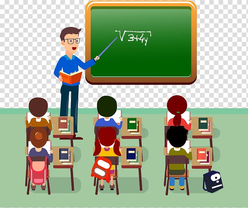 Man teaching Mathematic illustration, Student Teacher.