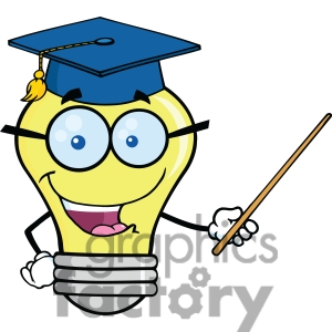 Lightbulb Thinking Clipart.