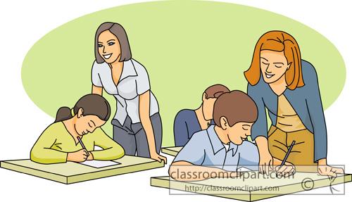Teacher In Classroom Clipart.