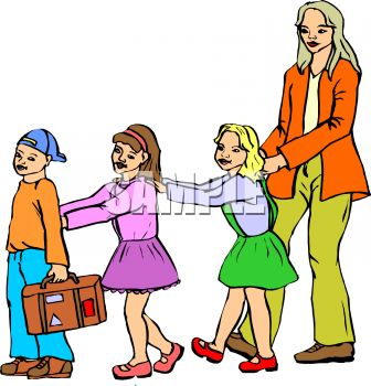 Students Walking In Line Clipart.
