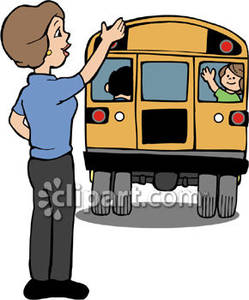 Teacher Waving Goodbye Clipart.