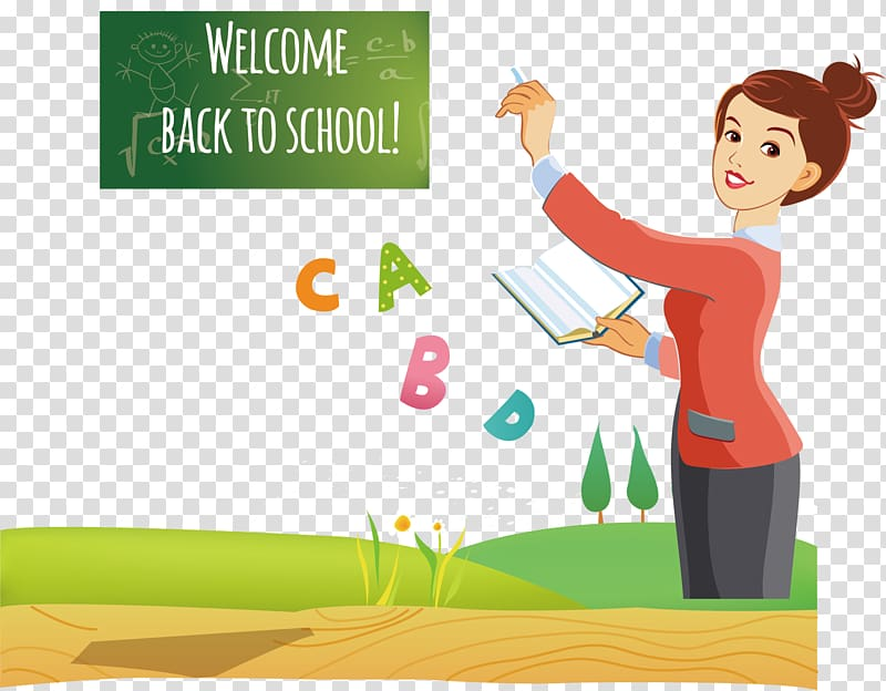 Welcome Back To School ads, Teacher Cartoon, Pretty teacher.