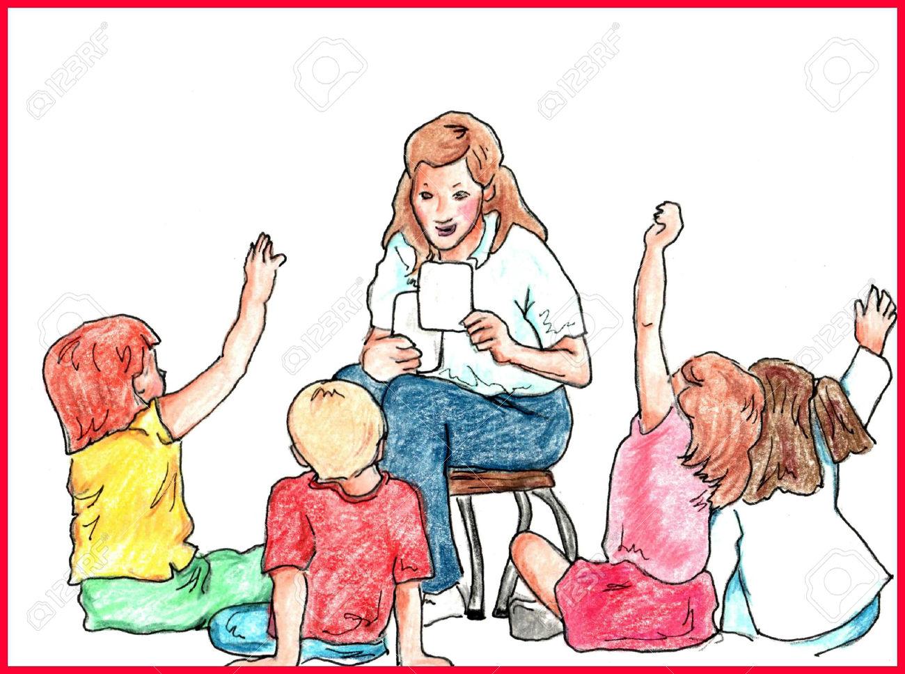 Classroom Teacher Teaching Kids At School Royalty Free Cliparts.