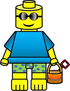 LEGO Inspired Kids Clipart.