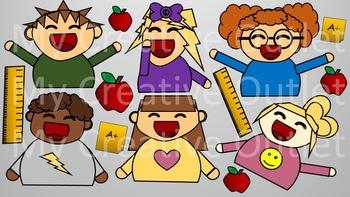 Teacher Clip Art // Student Clip Art, Students, Classroom.