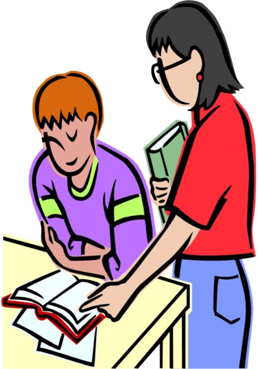 Conversation Between Teacher And Student Clipart.