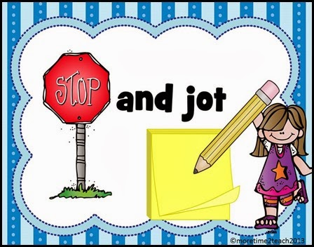Stop And Jot Clipart.