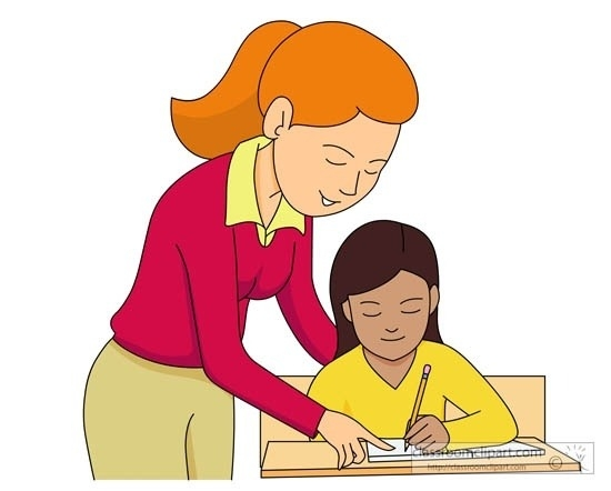 Great Of Student Helping Teacher Clipart.