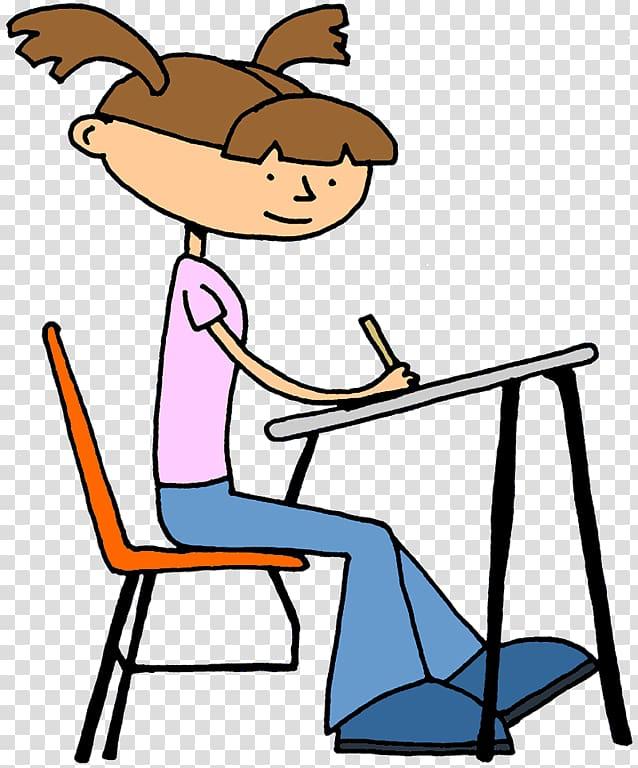 Student Doing school Desk Teacher , Children Writing.