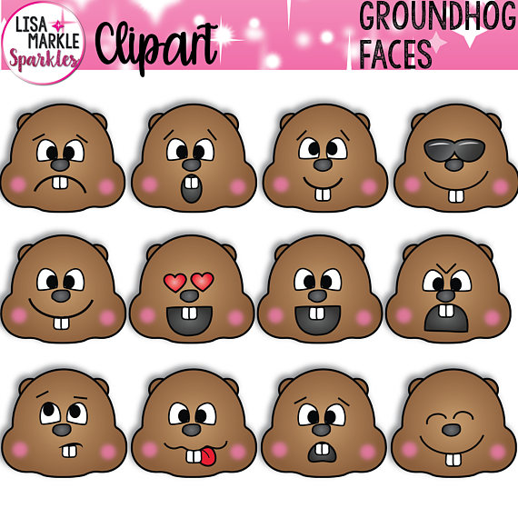 Groundhog Clipart, Groundhog\'s Day Clipart, Groundhog Day.