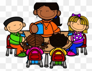 Free PNG Teacher Working With Students Clip Art Download.