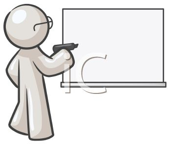 Writing Teacher Clipart.