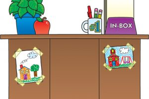 Teachers desk clipart 4 » Clipart Station.
