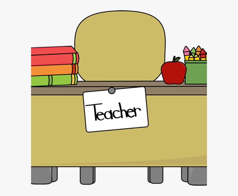 Teacher\'s Desk Clip Art Teacher\'s Desk Vector Image.