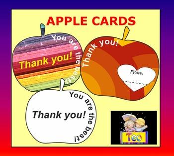 Apple Cards for Teachers.