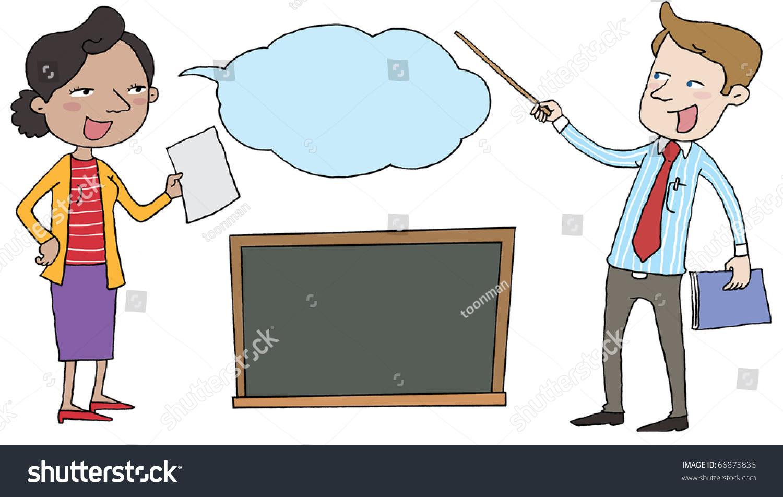 Male Teacher Teaching Clipart.