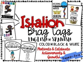 Istation Award Brag Tags ~ English and Spanish!.