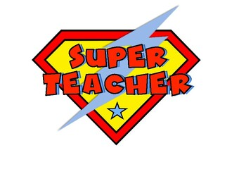 Superhero TEACHER logo by keryl.