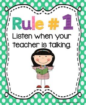 Whole Brain Teaching Rules.