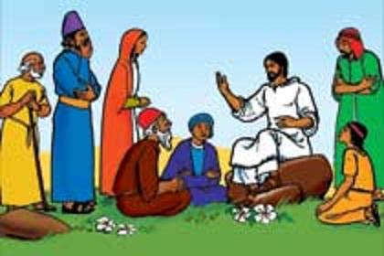 Jesus teaches clipart.