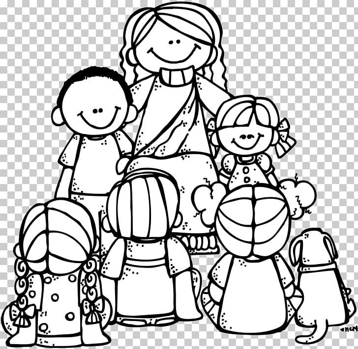 Coloring book Teaching of Jesus about little children Bible.