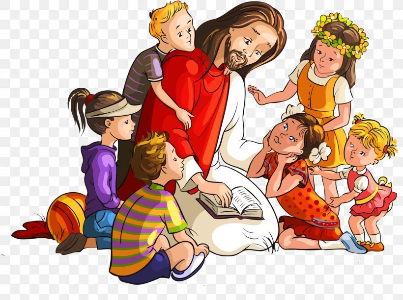 Bible Teaching Of Jesus About Little Children, PNG.