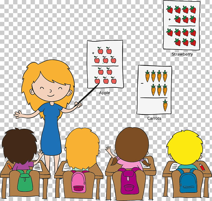 Teacher Classroom Cartoon Child, learning, woman teaching.