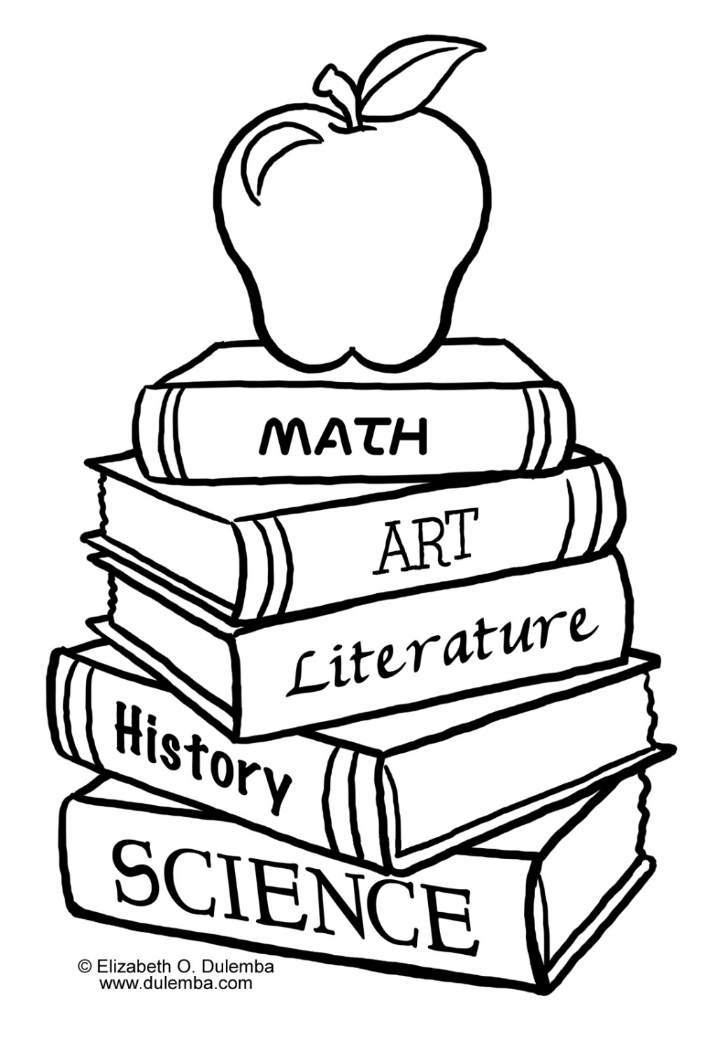 Black And White School Clipart.