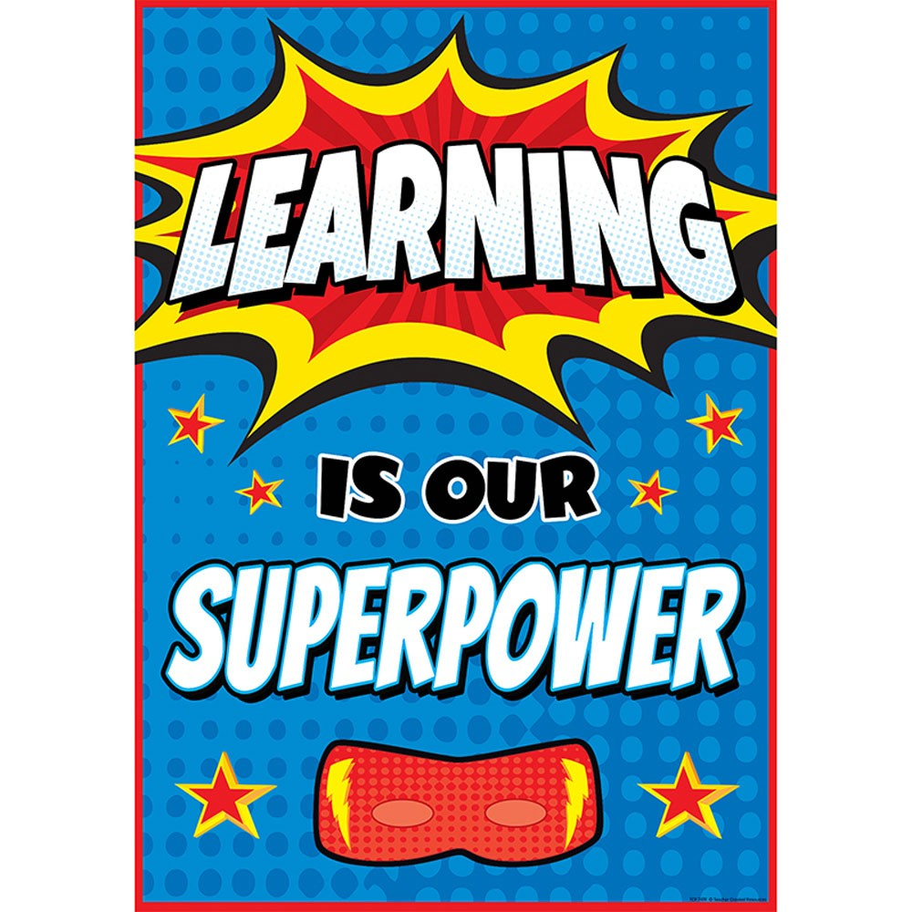 Learning is Our Superpower Positive Poster.