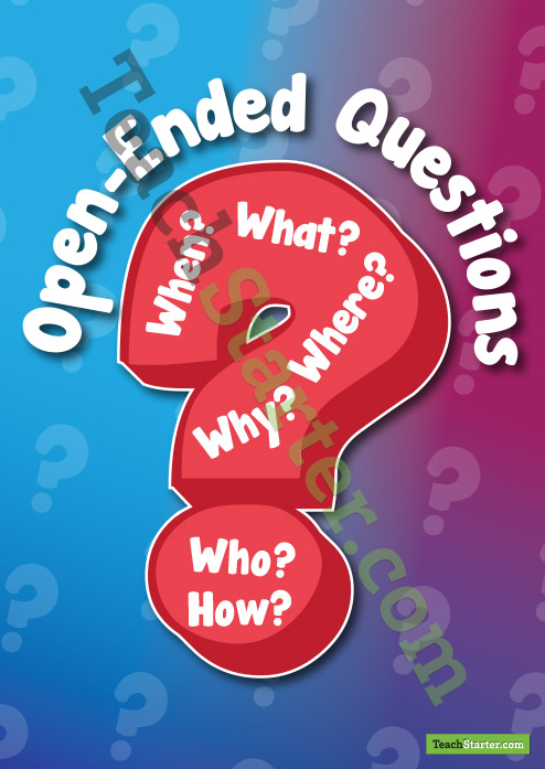 Open Ended Questions Clipart.