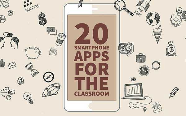 20 fun apps to put your students\' smartphones to good use.