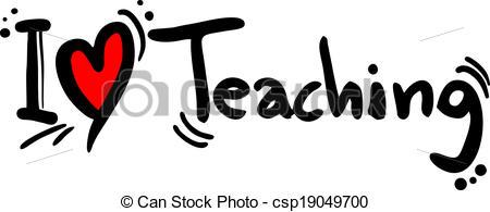 Vector Clipart of Teaching love.