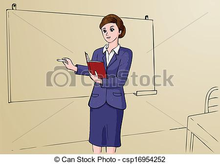 Clipart Vector of Teacher.