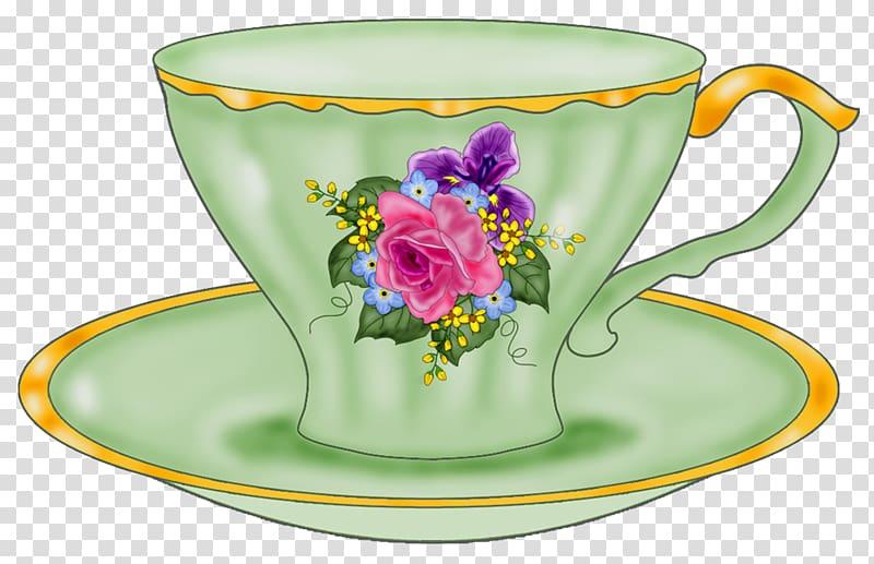 Tableware Teacup Saucer Coffee cup , tea time transparent.
