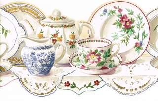 Tea Cup Border Clipart.