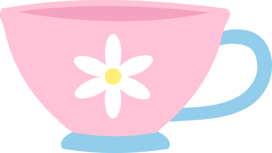Cute Pink Teacup With Daisy.