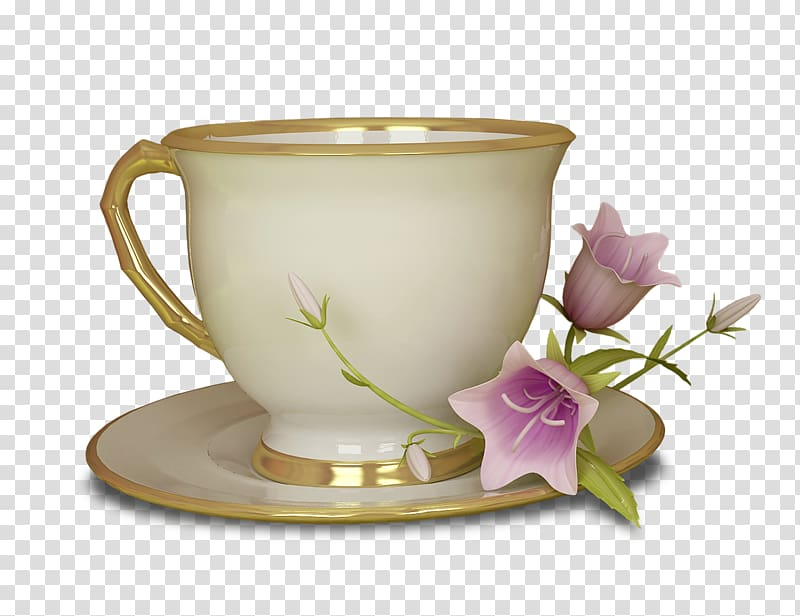 Green tea Cupcake Teacup , Continental Cup transparent.