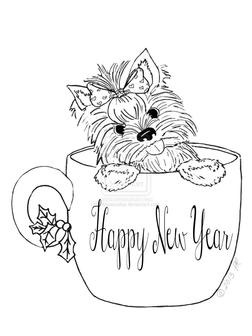 Teacup Puppy Coloring Pages.