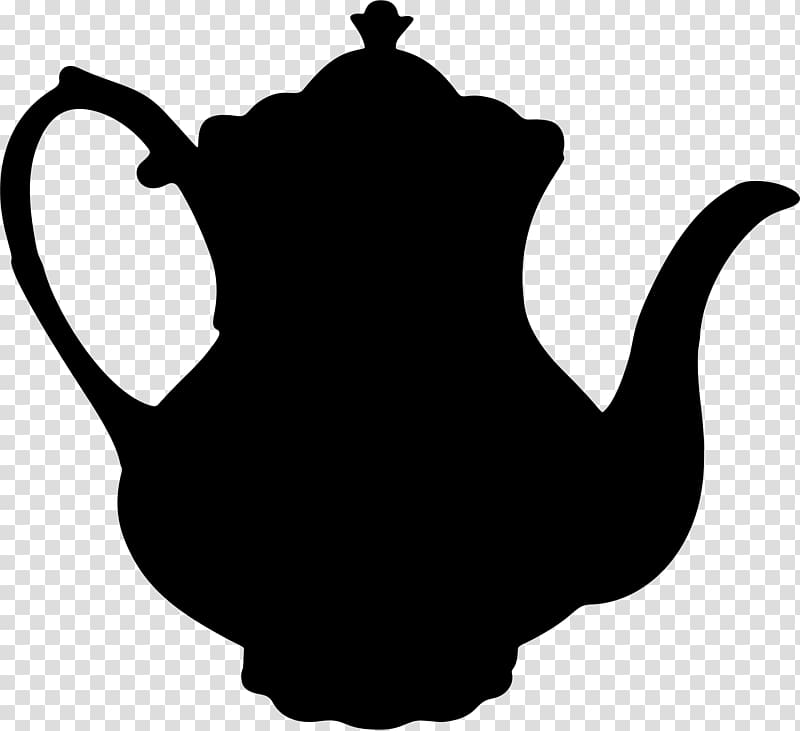 Silhouette of teapot illustration, Teapot Teacup Silhouette.