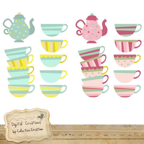 Simple Tea Party Clipart.