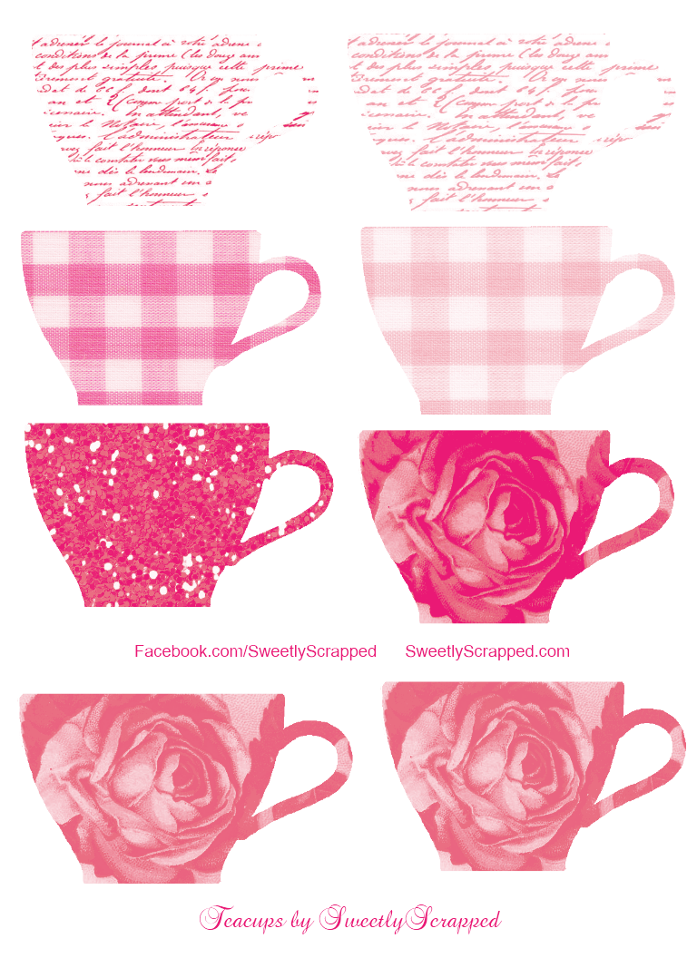 Sweetly Scrapped: Free Teacups Clipart and Digi Printables.