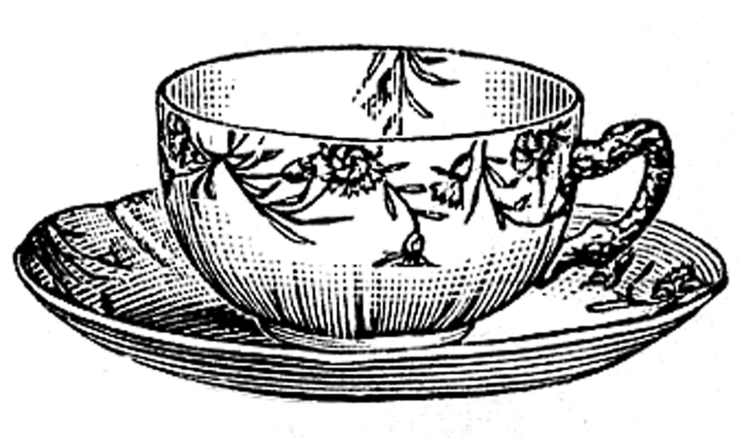 Free Black And White Teacups, Download Free Clip Art, Free.