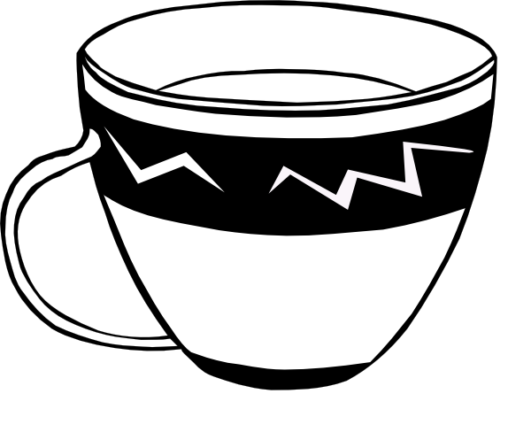 764 Teacup free clipart.