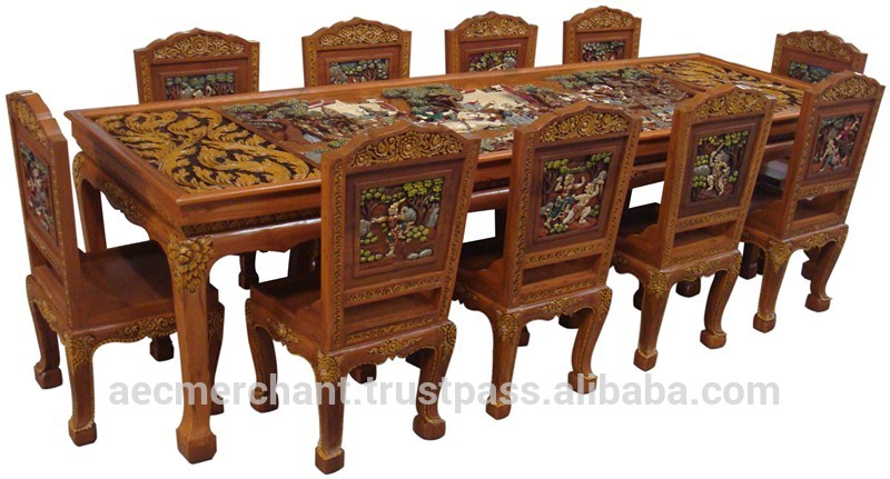 Teak table clipart clipground for Thai furniture