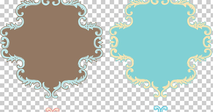 Borders and Frames Decorative arts , wedding vintage PNG.