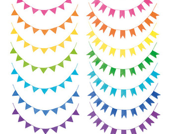 Pennant Banner Flags Clipart for Personal & Commercial Usage.