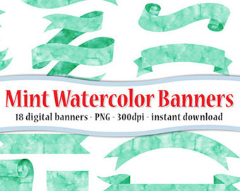 teal and gold flag banner clipart png #17