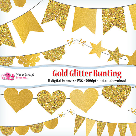 Silver Glitter Ribbon Banner clipart collection 5.
